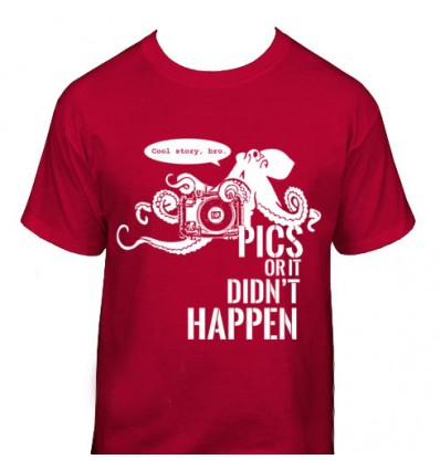 T-shirt, Charcoal Red